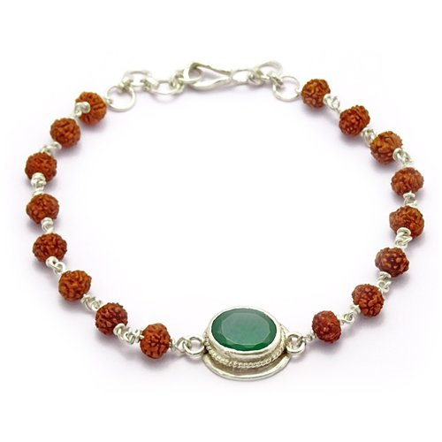 Rudraksha & Gem Bracelet For Virgo (Kanya)