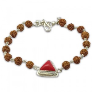 Rudraksha & Gem Bracelet For Aries (Mesh)