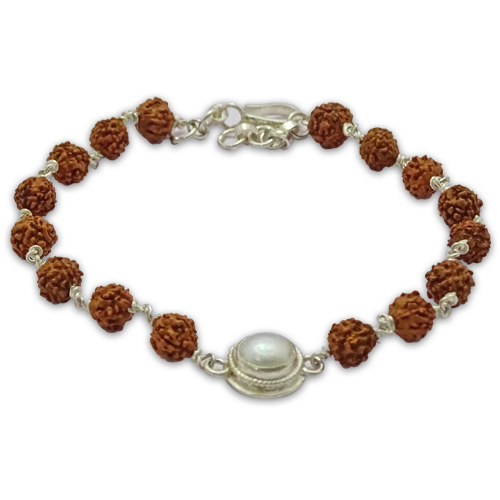 Rudraksha & Gem Bracelet For Cancer (Kark)