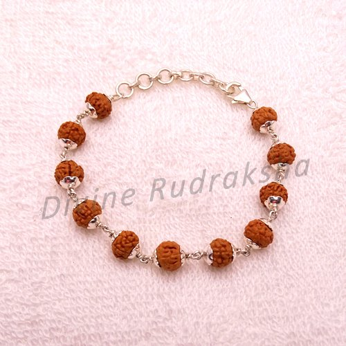 7 Mukhi Indonesian Bracelet in Silver