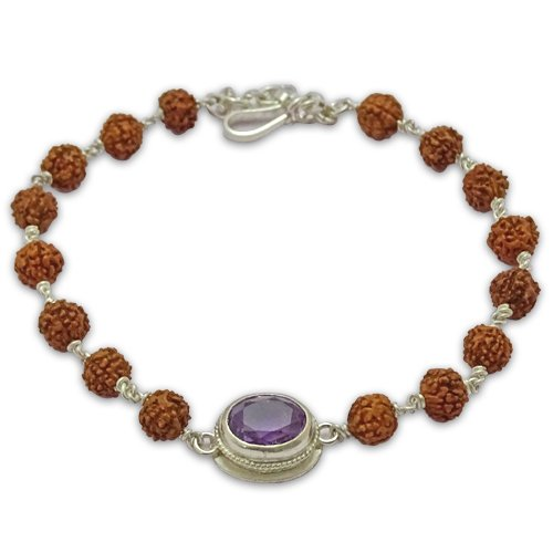 Rudraksha & Gem Bracelet For Capricorn (Makar)