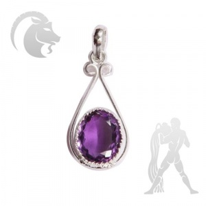 Amethyst Pendent for Capricon (Makar) & Aquarius (Kumbh)