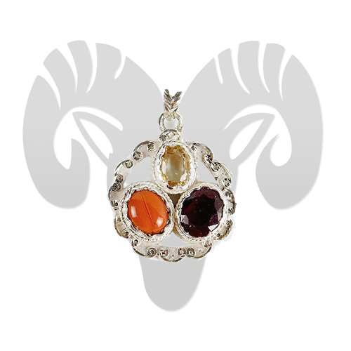 Gems Pendant for Aries (Mesh) 1