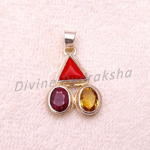 Gems Pendant For Aries (Mesh)