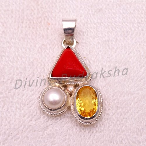 Gems Pendant for Scorpio (Vrischik)