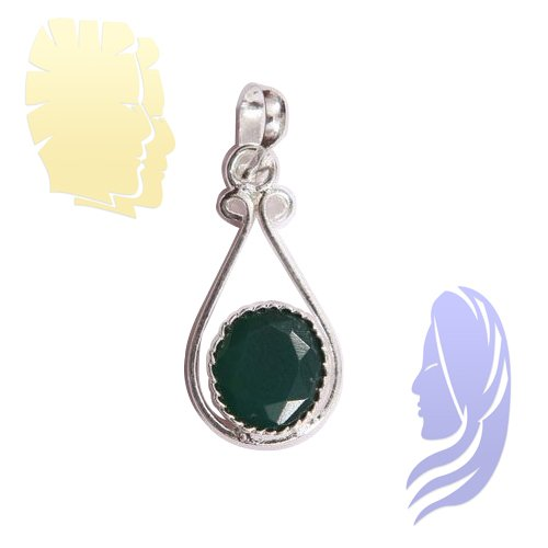 Emerald Pendant For Gemini (Mithun) & Virgo (Kanya)