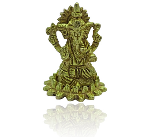 Ganesha Idol on Lotus