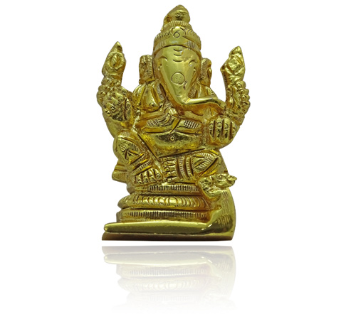 Ganesha Idol in Golden finish
