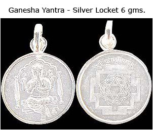 Ganesha Yantra in 6 gms Silver Locket