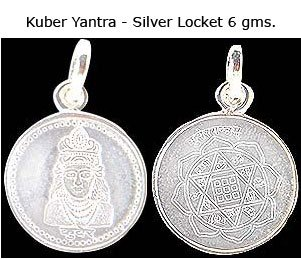 Kuber Yantra in 6 gms Silver Locket
