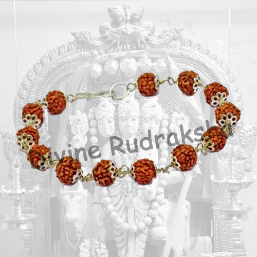 Rudraksha Bracelet with Metal Caps