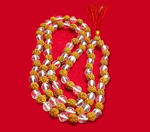 Rudraksha & Crystal Combination Mala