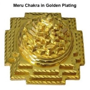 Golden Plated Shree Meru Maha Yantra