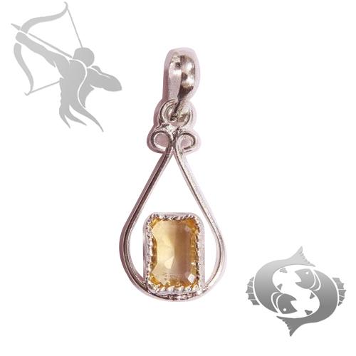 Golden topaz gems pendant for sagittarius dhanu pisces meen sign golden topaz pendant for sagittarius dhanu pisces aloadofball Images