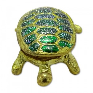 Bejeweled Metal Turtle